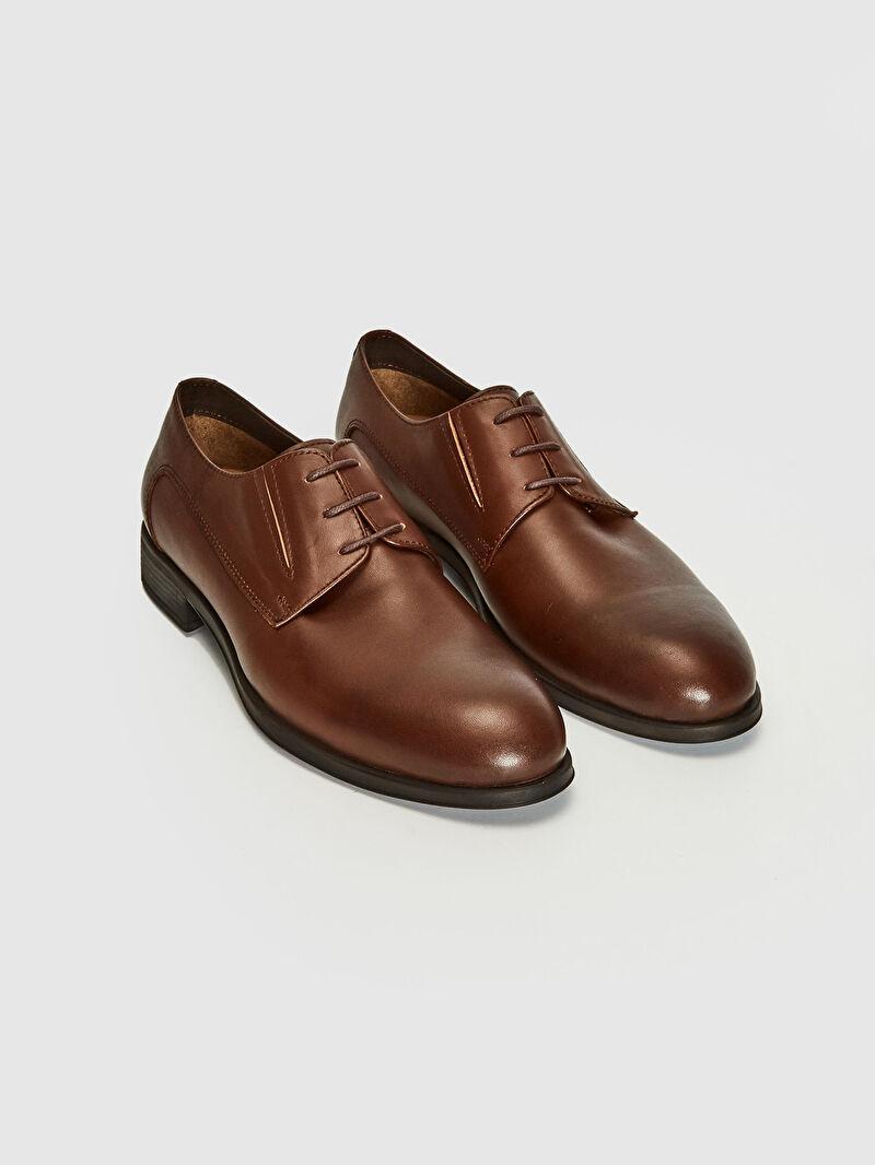 Kahverengi Erkek Hakiki Deri Ayakkabı 0WBJ92Z8 LC Waikiki