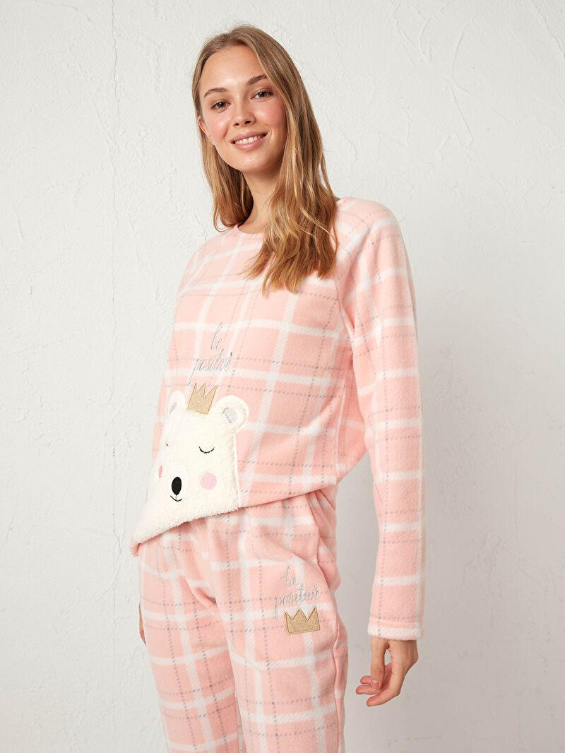 Nakışlı Polar Pijama Takımı