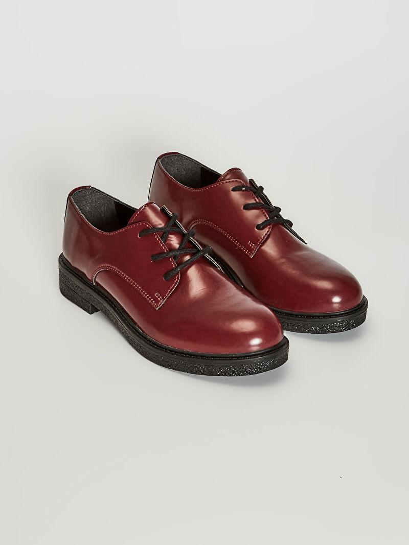 %0 Diğer malzeme (pvc)  %0 Diğer malzeme (termoplastik)  %0 Diğer malzeme (pvc)  Klasik Ayakkabı 3 cm Bağcık Düz Midi Oval Burun Kadın Bağcıklı Klasik Ayakkabı