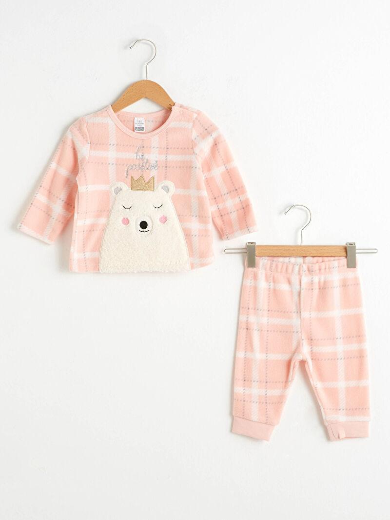Pembe Kız Bebek Polar Pijama Takımı 0WCC70Z1 LC Waikiki