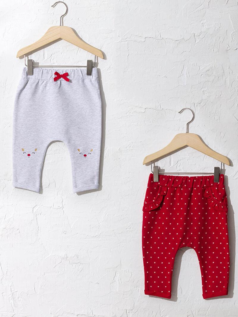 Ekru Kız Bebek Pantolon 2'li 0WCF08Z1 LC Waikiki