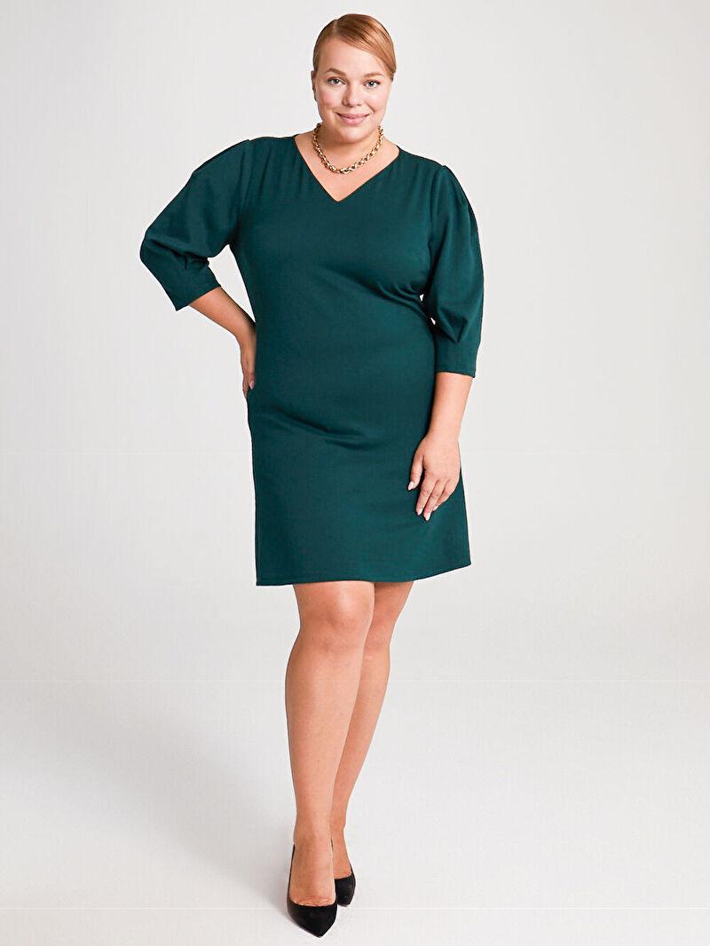 Yeşil Düz Kesim Salaş Elbise 0WCO19Z8 LC Waikiki