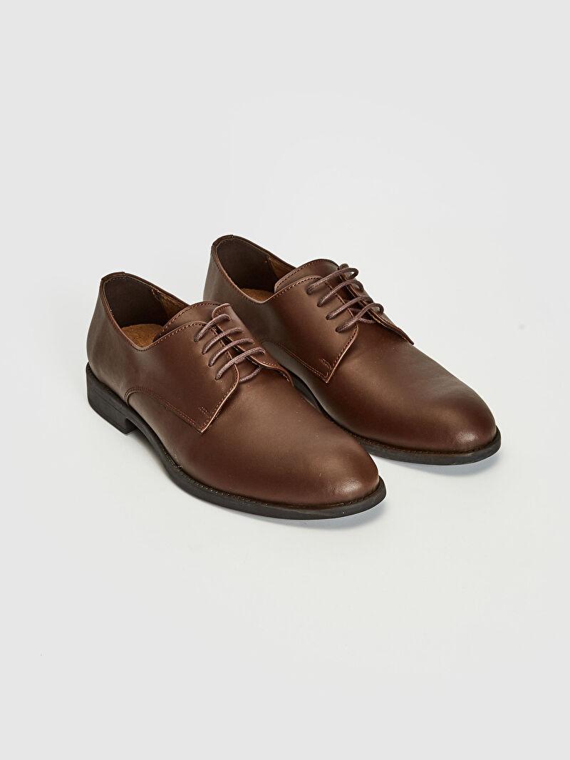 Kahverengi Erkek Bağcıklı Klasik Derby Ayakkabı 0WCY28Z8 LC Waikiki