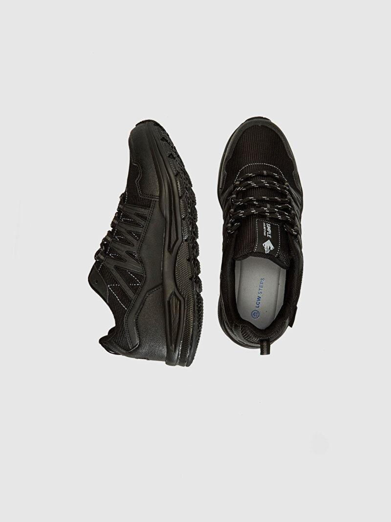 Siyah Erkek Bağcıklı Trekking Ayakkabı