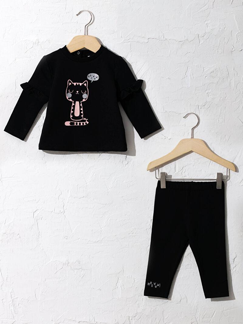 Siyah Kız Bebek Takım 2'li 0WET06Z1 LC Waikiki