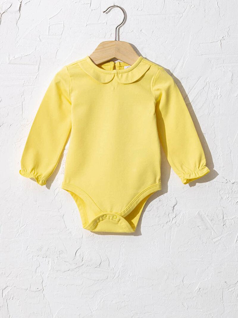 Sarı Kız Bebek Çıtçıtlı Body 0WFB01Z1 LC Waikiki