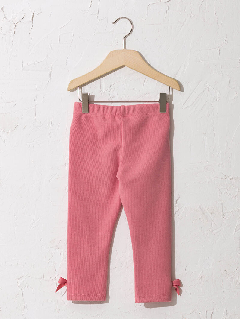 %58 Polyester %42 Pamuk  Tayt Orta Kalınlık Düz Standart Penye Standart Casual/Günlük Kız Bebek Tayt