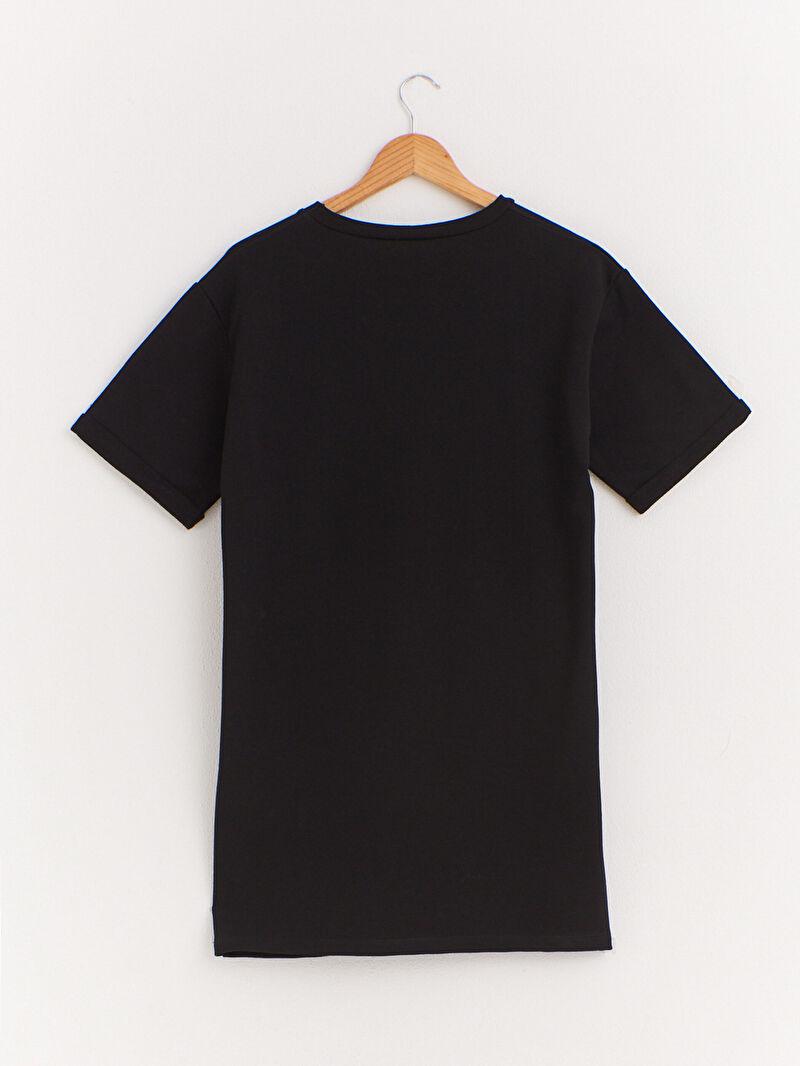 %66 Pamuk %34 Polyester  Elbise Düz Yüksek Pamuk İçerir Düz Salaş Elbise