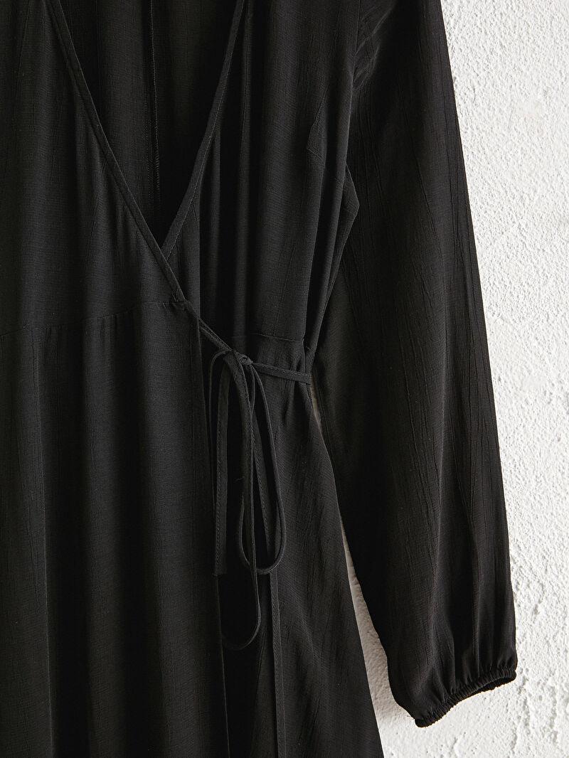 Kadın Kruvaze Yaka Viskon Elbise
