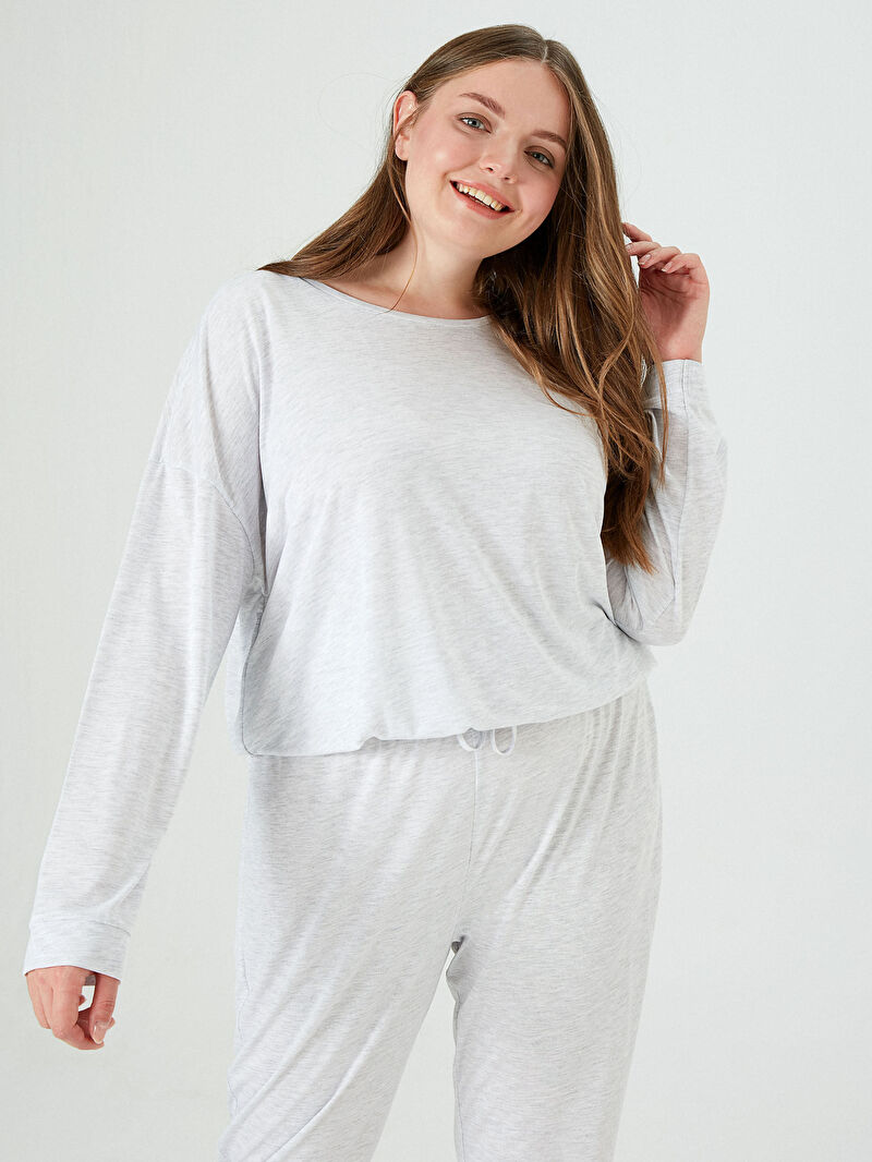 %65 Polyester %35 VİSKOZ  %65 Polyester %35 VİSKOZ  Pijama Takım Penye Düz Basic Pijama Takımı