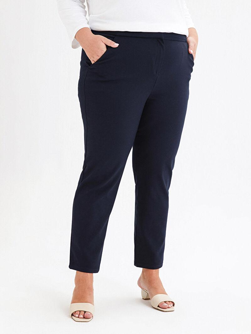 Kadın Beli Lastikli Bilek Boy Cigarette Pantolon