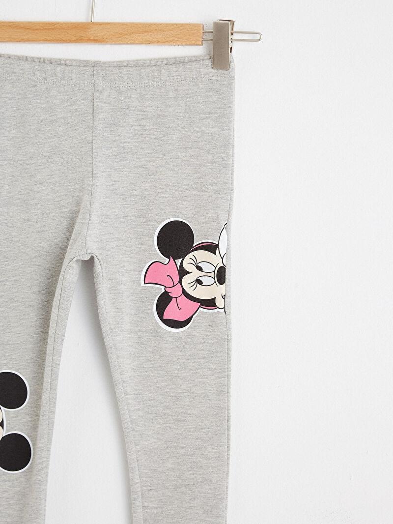 Kız Bebek Kız Bebek Minnie ve Mickey Mouse Baskılı Tayt