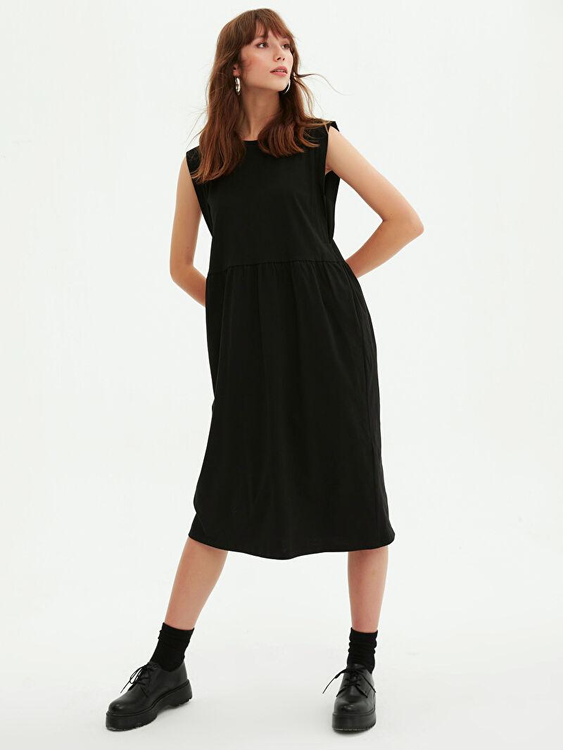 0WGL24Z8 Basic Pamuklu Kloş Elbise