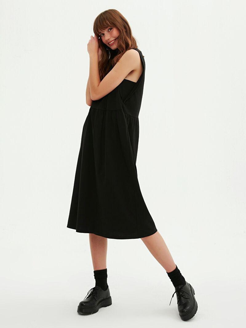 Kadın Basic Pamuklu Kloş Elbise