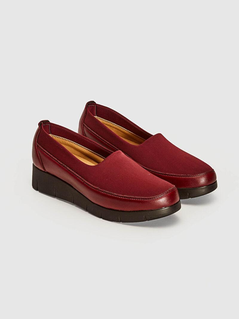 Bordo Kadın Klasik Şık Ayakkabı 0WGR53Z8 LC Waikiki