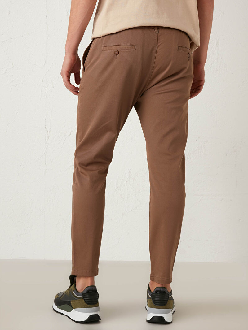 LC Waikiki Kahverengi Slim Fit Gabardin Pantolon