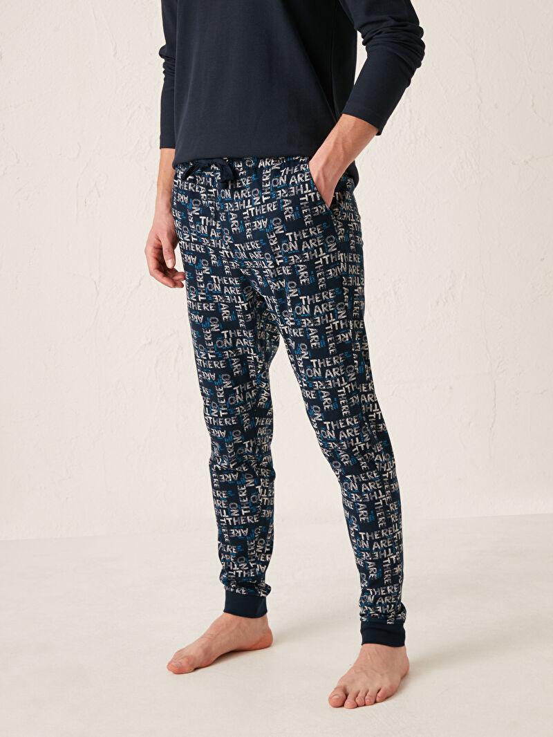 Erkek Standart Kalıp Jogger Pijama Alt