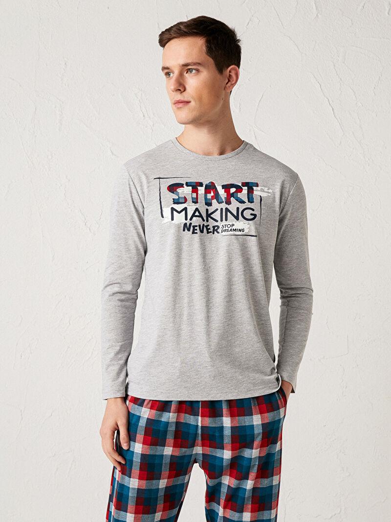 Standart Kalıp Baskılı Pijama Takım