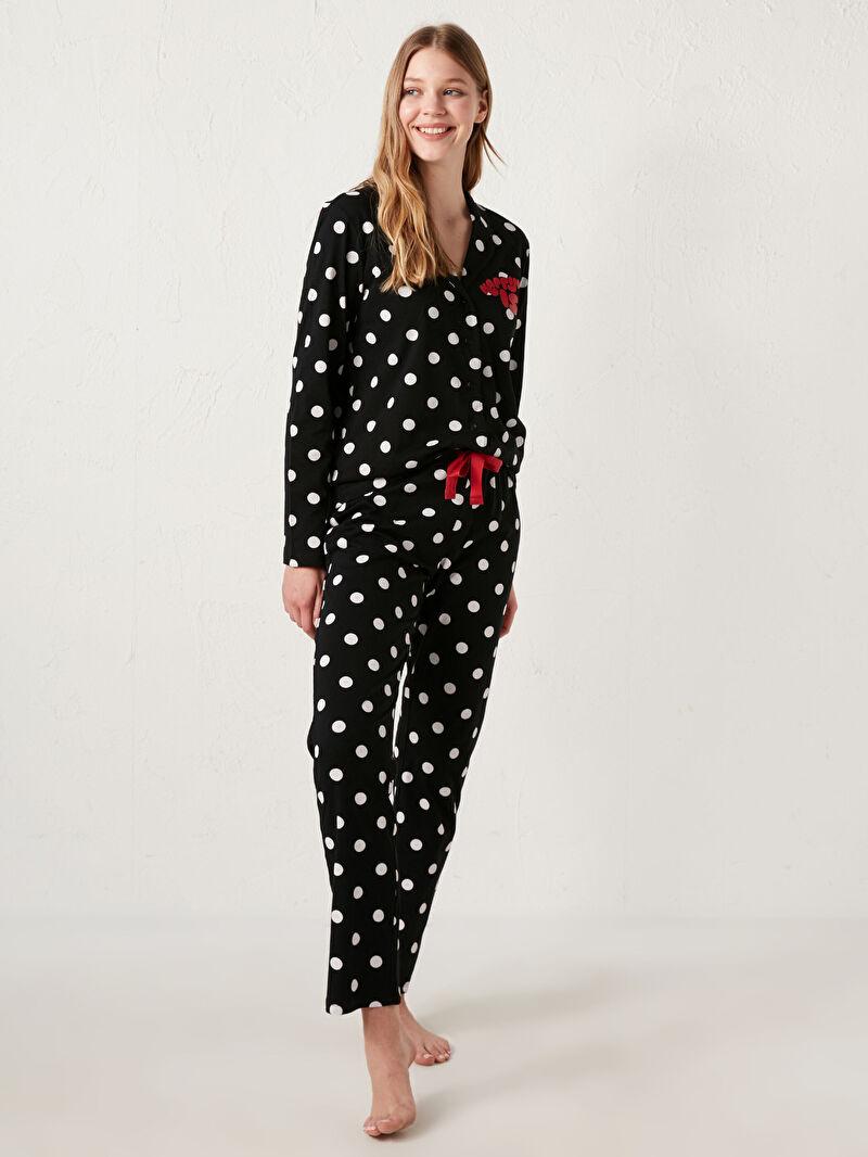 Kadın Snoopy Baskılı Pijama Takımı