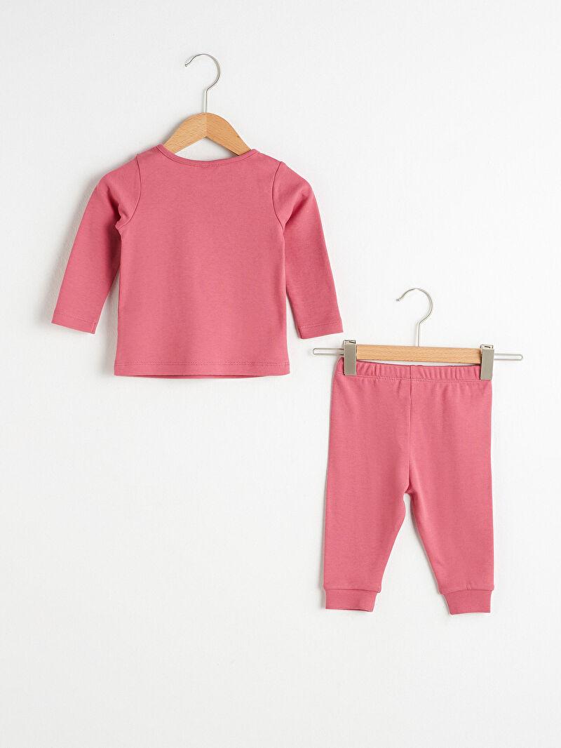 Kız Bebek Kız Bebek Organik Pamuklu Minnie Mouse Baskılı Pijama Takımı