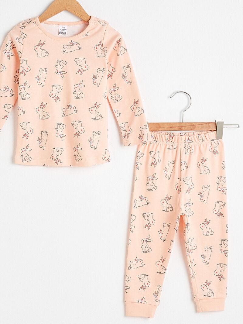 Kız Bebek Kız Bebek Baskılı Pijama Takımı