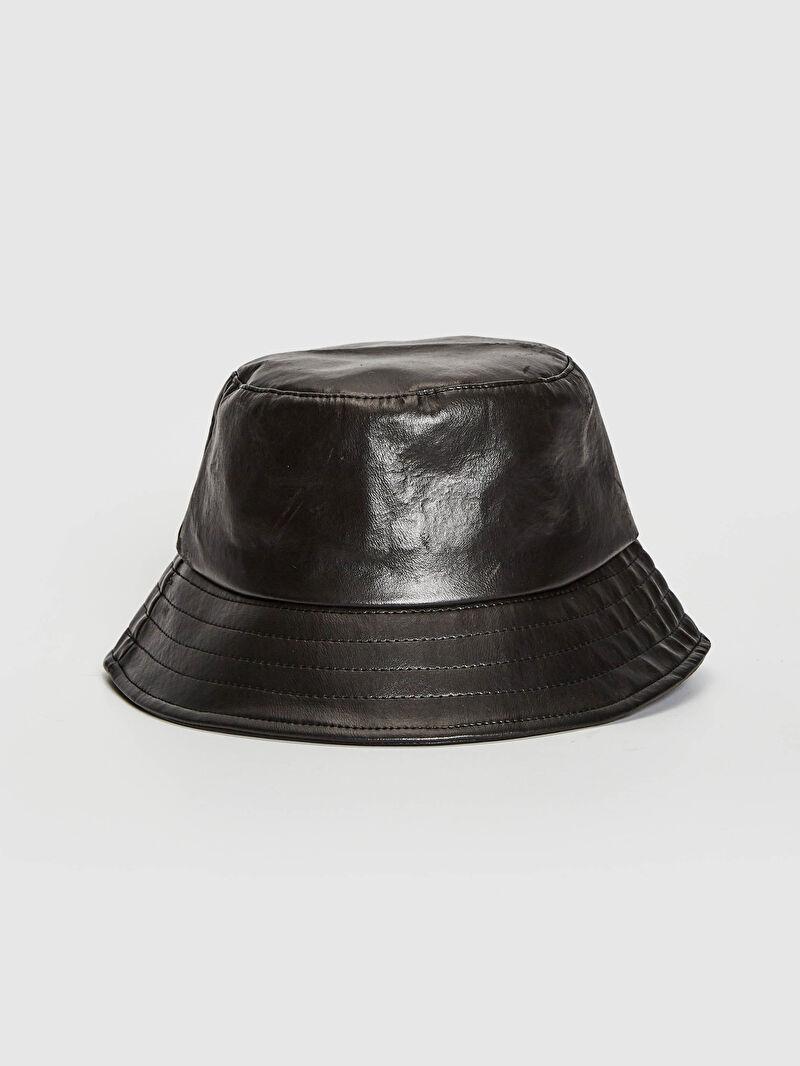 Siyah Kadın Bucket Şapka 0WJ094Z8 LC Waikiki