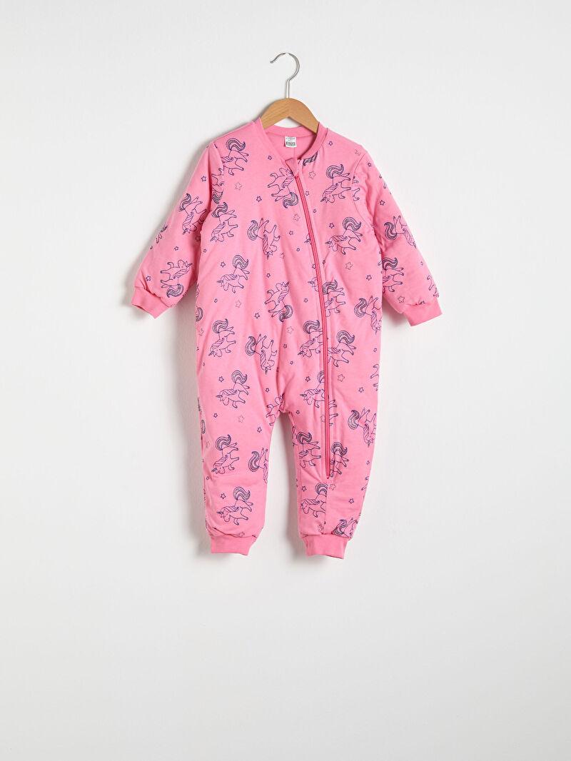 Pembe Kız Bebek Fermuarlı Uyku Tulumu 0WJ841Z1 LC Waikiki