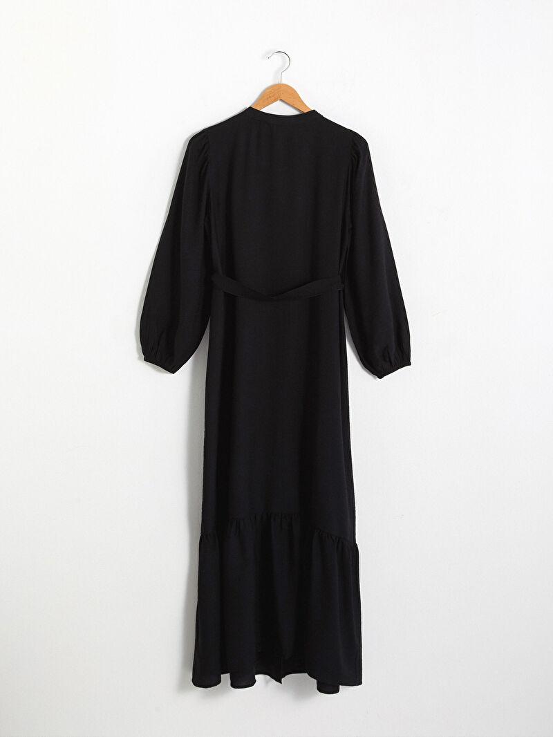 0WJA94Z8 Beli Bağlama Detaylı Elbise
