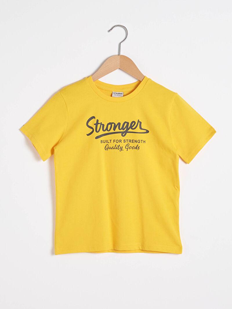 Бавовняна футболка з принтом для хлопчика -S10578Z4-FX3