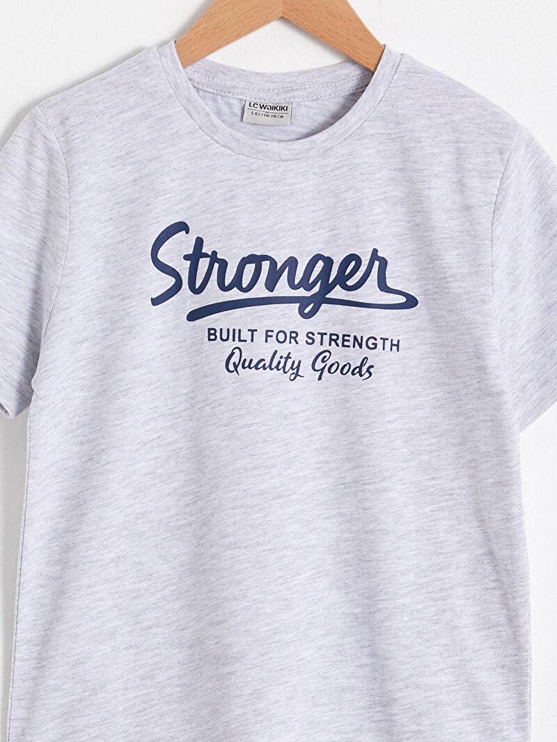 Бавовняна футболка з принтом для хлопчика -S10578Z4-LAK
