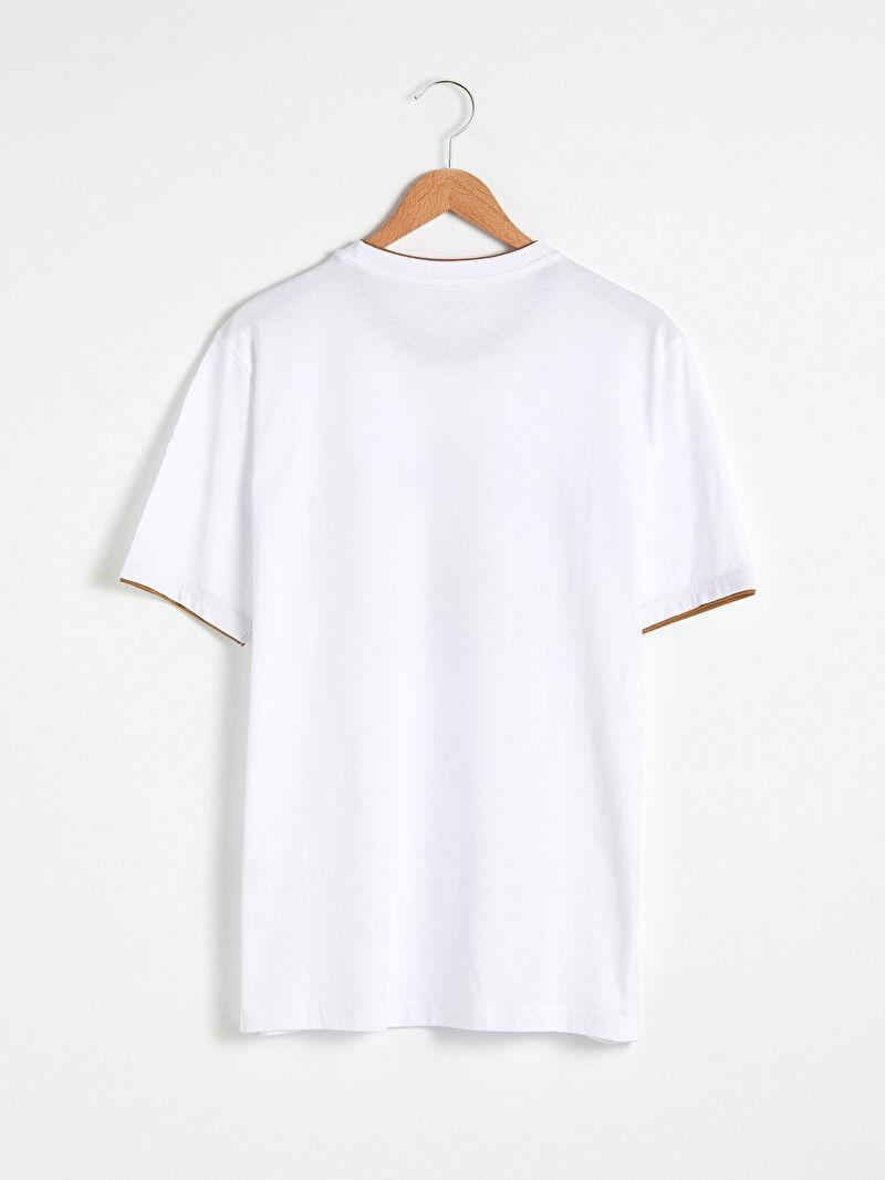 %100 Pamuk  Rahat Kalıp İnce Baskılı Tişört Kısa Kol Penye %100 Pamuk Bisiklet Yaka Baskılı Penye Tişört