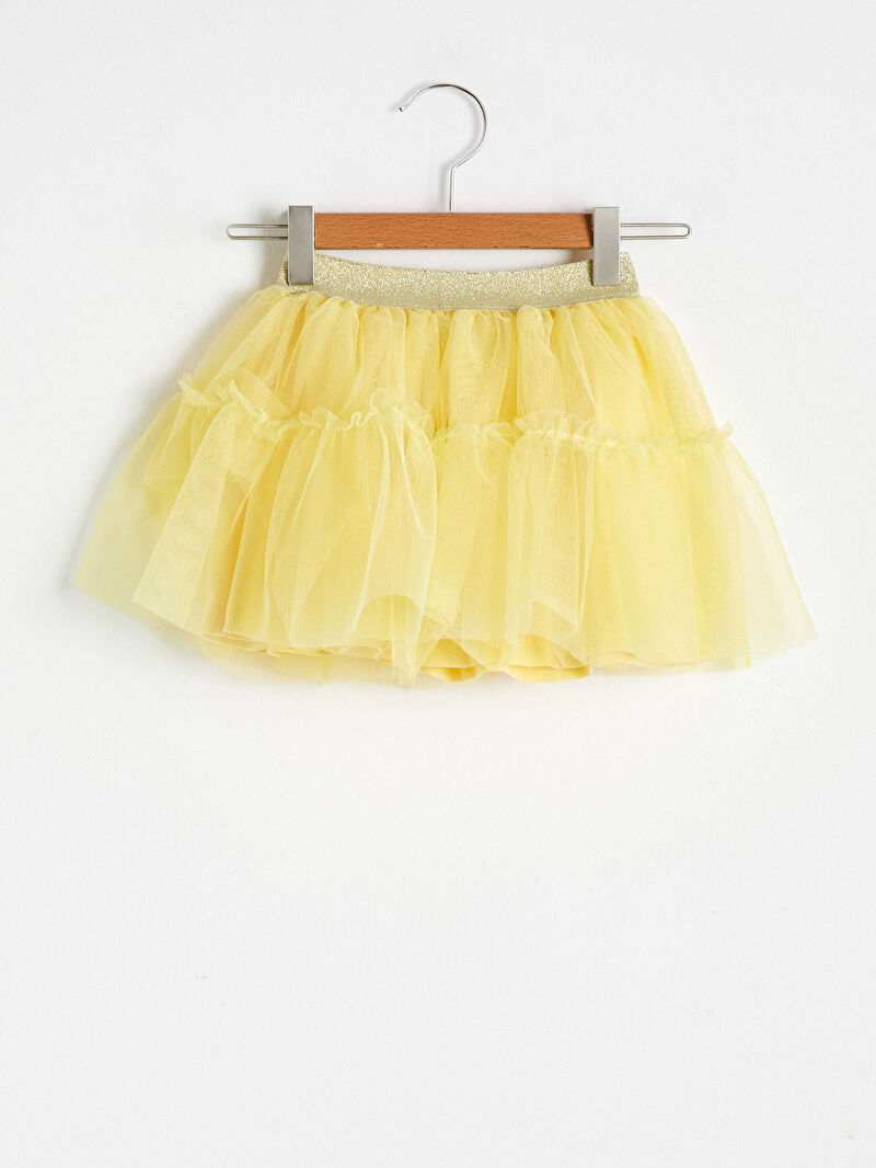 Sarı Kız Bebek Tül Etek S16578Z1 LC Waikiki