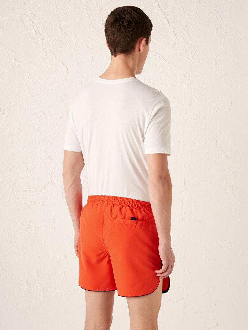 %100 Polyester  Kısa Boy Baskılı Standart Kalıp Deniz Şortu
