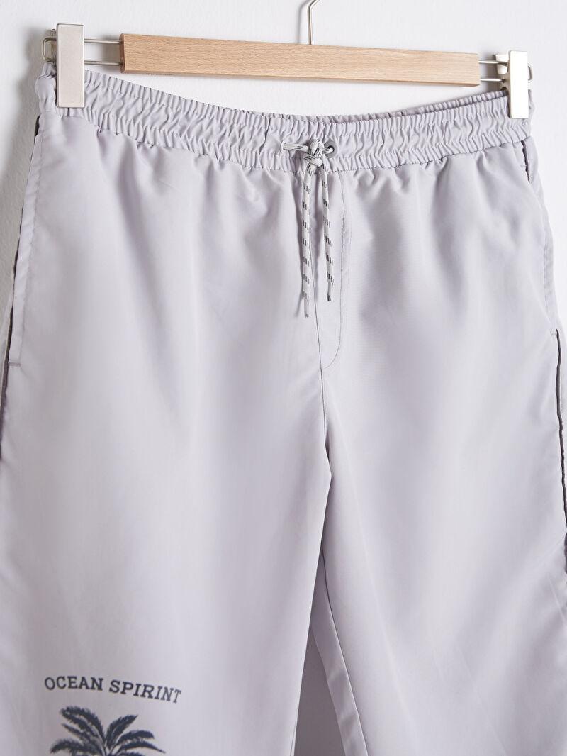 %100 Polyester  %100 Polyester  Yüzme Şort Uzun Diz Altı Boy Deniz Şortu