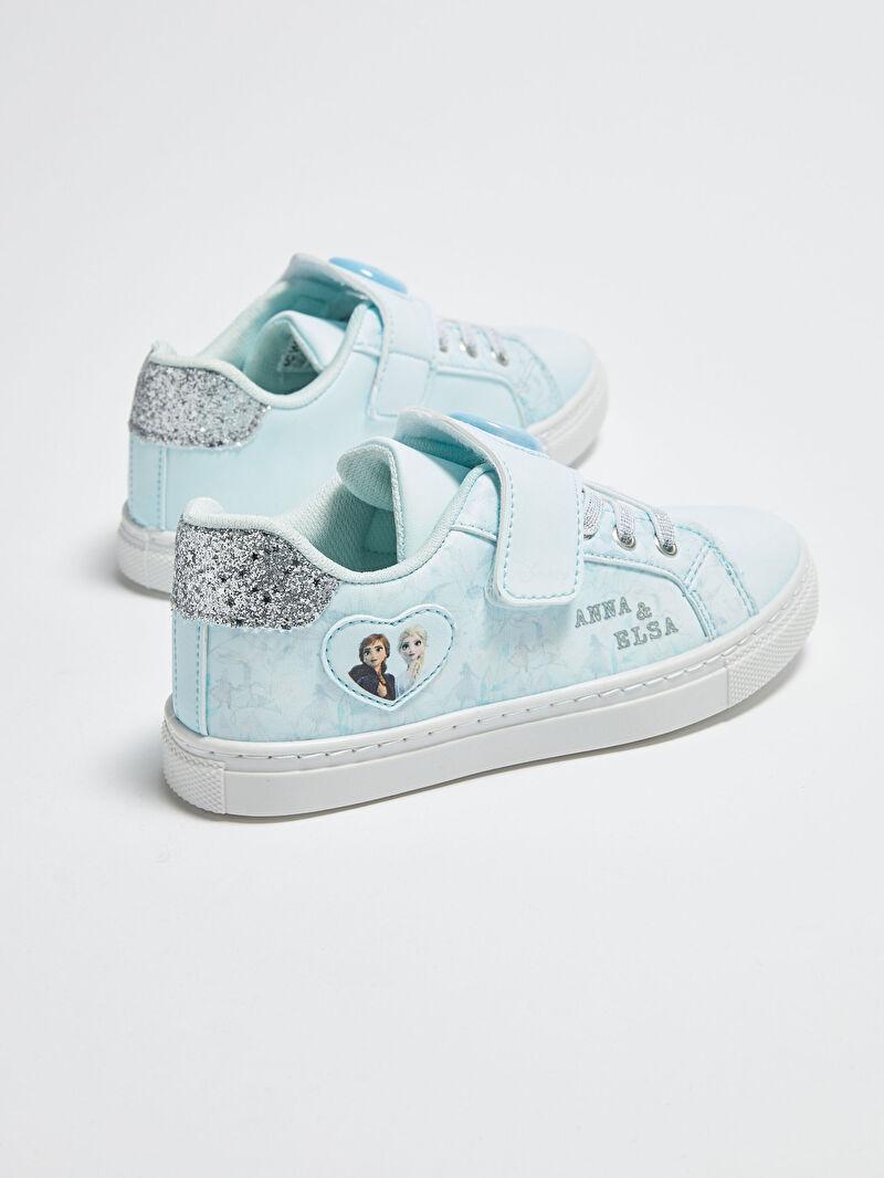 mavi kiz cocuk frozen lisansli isikli sneaker ayakkabi lc waikiki