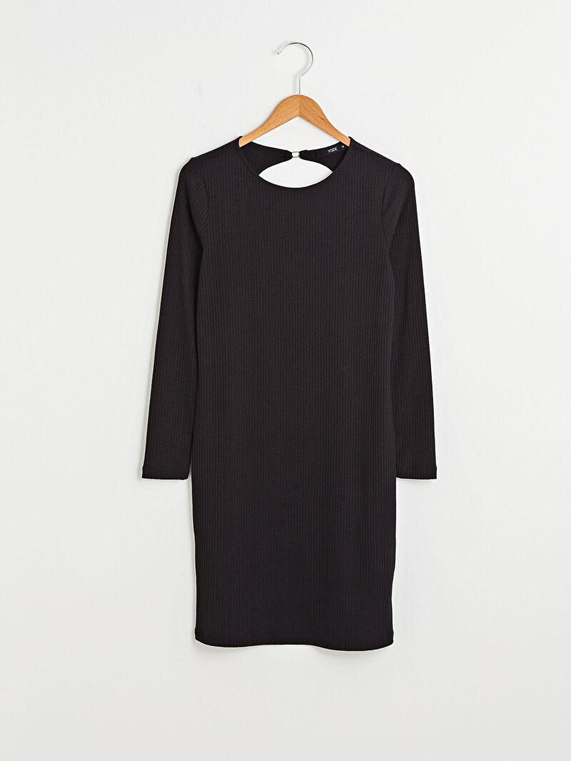 S1DH76Z8 XSIDE Sırt Detaylı Uzun Kollu Kadın Elbise