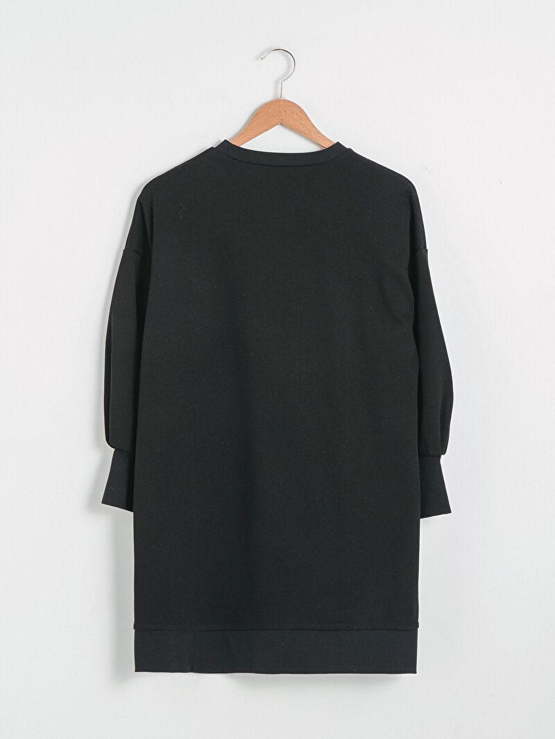 %70 Pamuk %30 Polyester  Elbise Sweatshirt Bisiklet Yaka Orta Kalınlık Uzun Kol Standart Düz Yüksek Pamuk İçerir Sweatshirt Kumaşı Bisiklet Yaka Basic Sweat Elbise