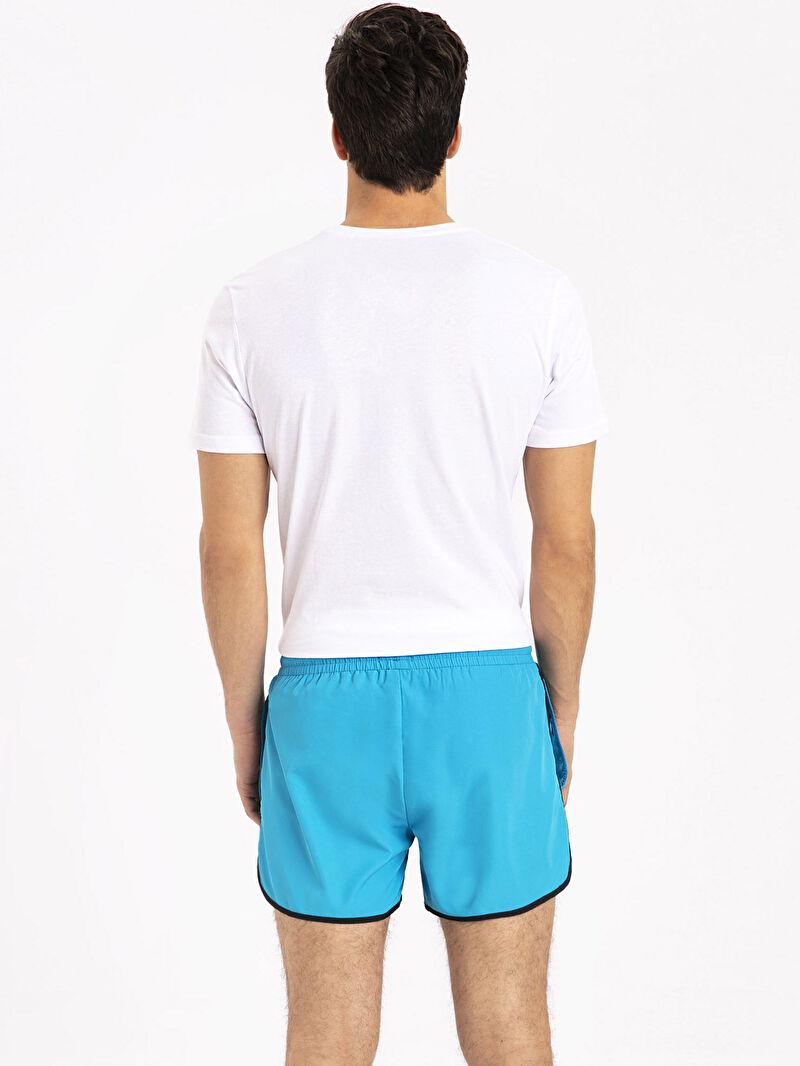 %100 Polyester  %100 Polyester  Diz Üstü İnce Yüzme Şort Kısa Boy Deniz Şortu