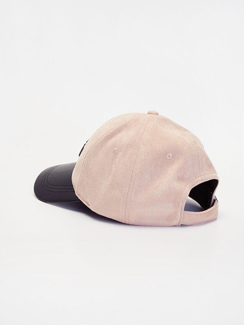 Kadın Nakış Yazı İşlemeli Süet Şapka