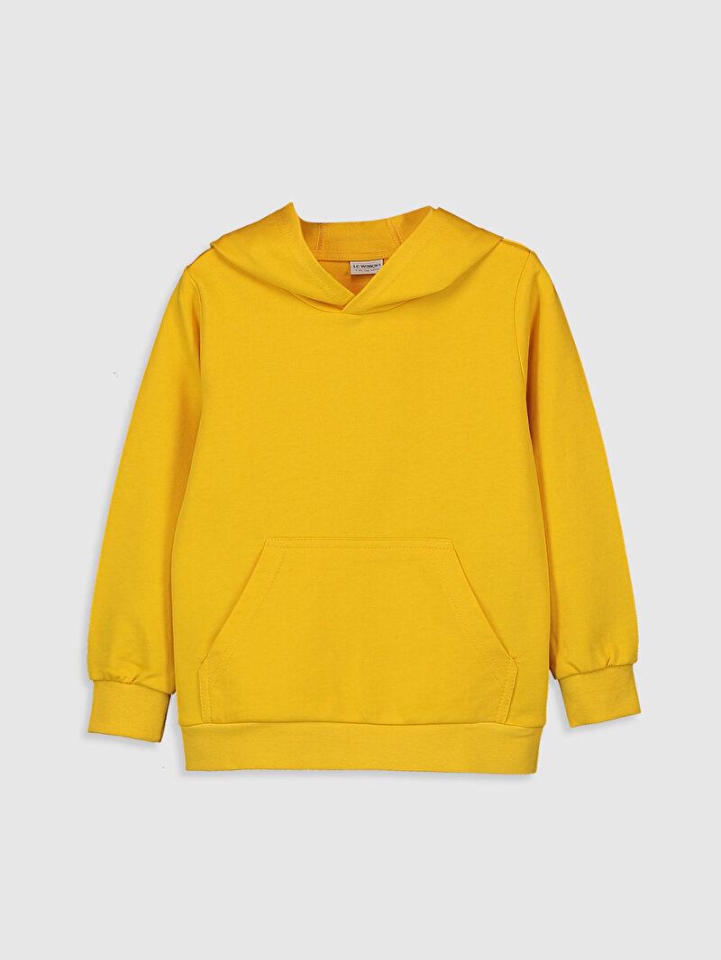 Sarı Erkek Çocuk Kapüşonlu Sweatshirt 9WB708Z4 LC Waikiki