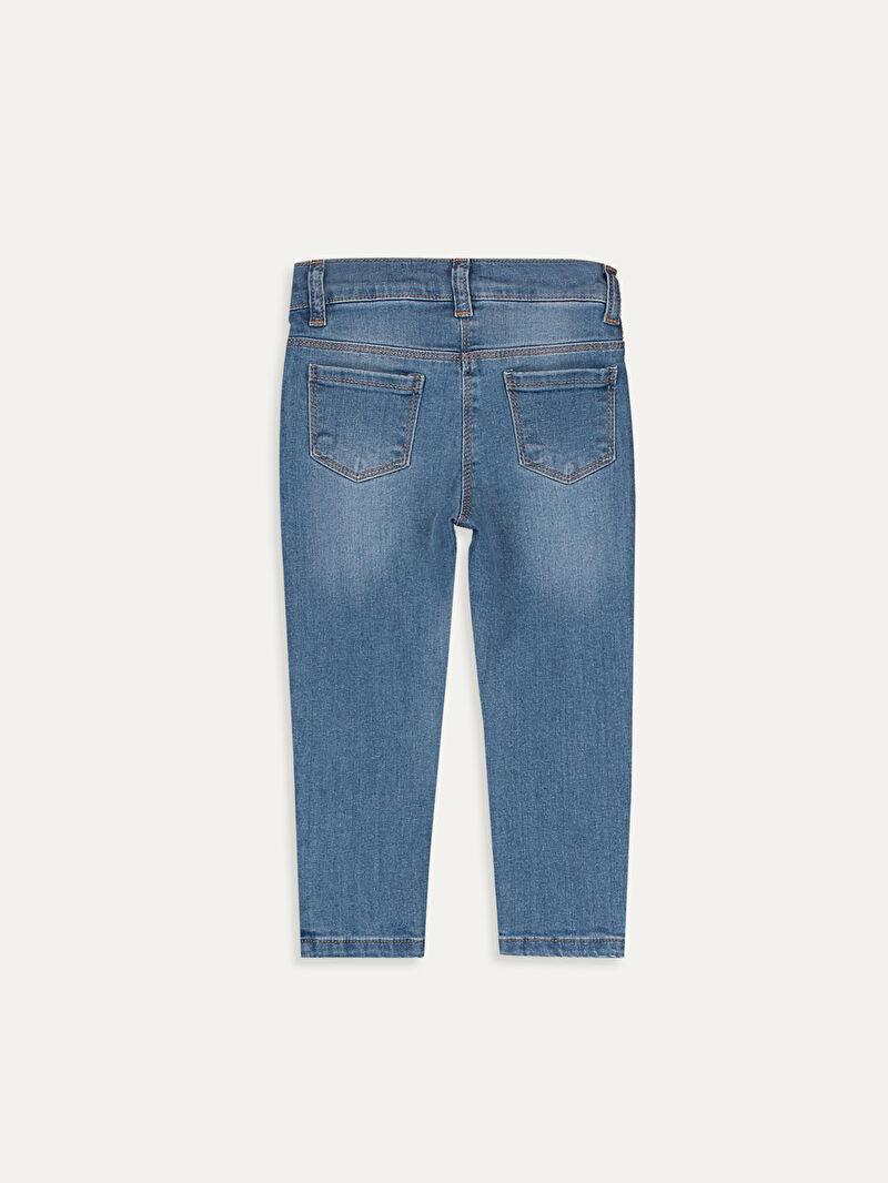%90 Pamuk %8 Polyester %2 ELASTAN  Yüksek Pamuk İçerir Düz Standart Standart Normal Bel Astarsız Jean Kız Bebek Jean Pantolon