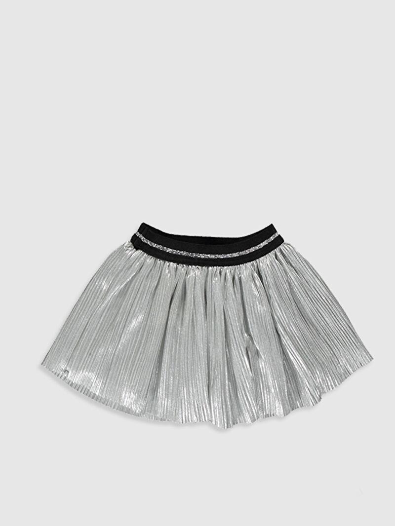 %100 Polyester  %100 Pamuk  Şık Standart Etek Kloş Düz %100 Pamuk Kız Bebek Viskon Etek