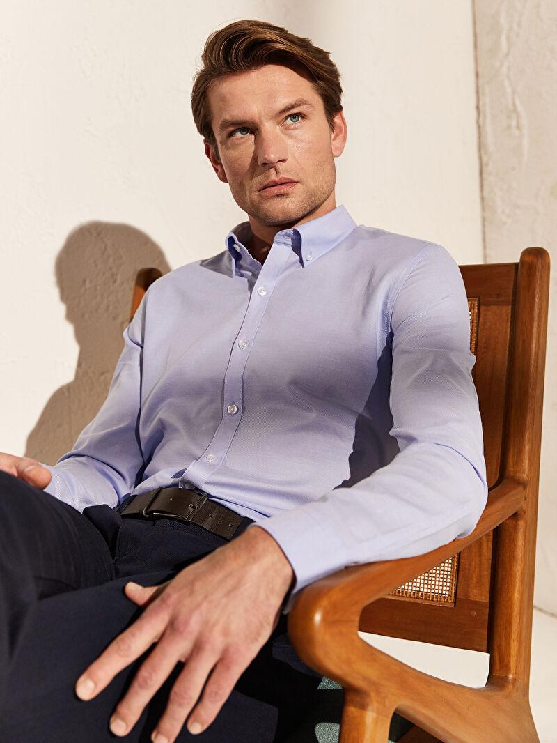 Mavi Slim Fit Basic Gömlek 0S0676Z8 LC Waikiki
