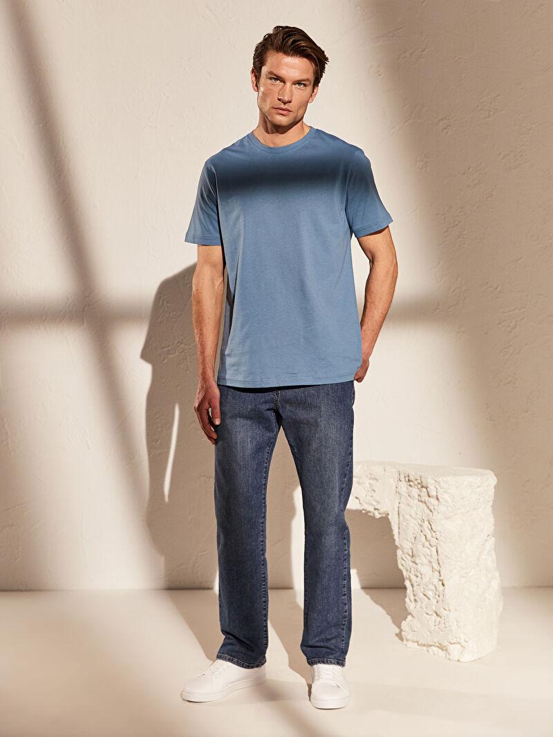 Базовая футболка из чесаного хлопка с круглым вырезом -0S1780Z8-PBC