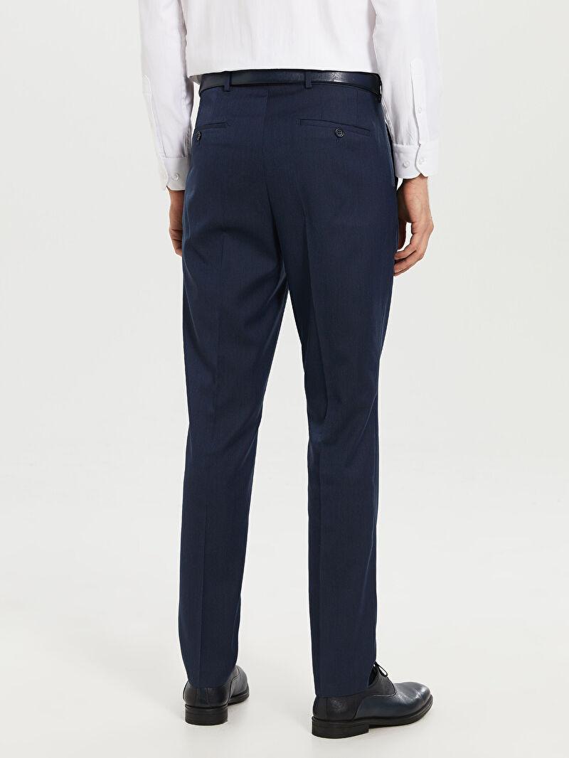 LC Waikiki İndigo Dar Kalıp Takım Elbise Pantolonu