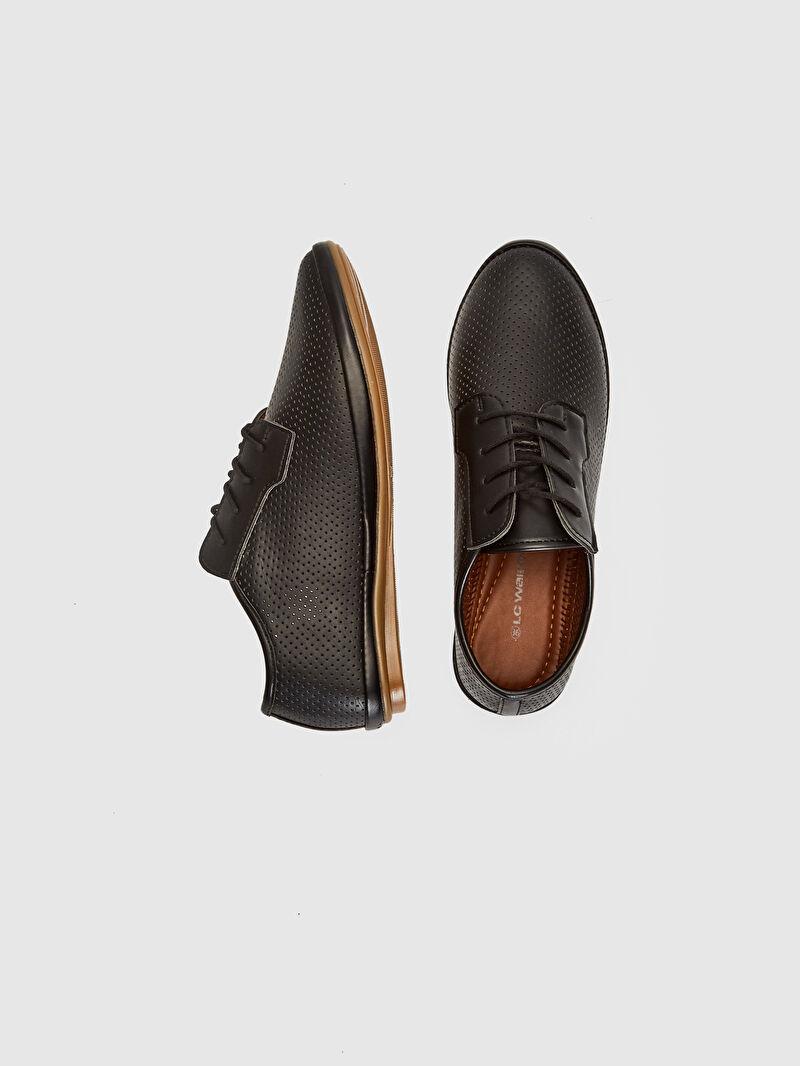 %0 Diğer malzeme (poliüretan)  %0 Diğer malzeme (termoplastik)  %0 Diğer malzeme (poliüretan)  Düz Kısa 4 cm Yuvarlak Burun Konforlu İç Taban Klasik Ayakkabı Kadın Bağcıklı Klasik Ayakkabı