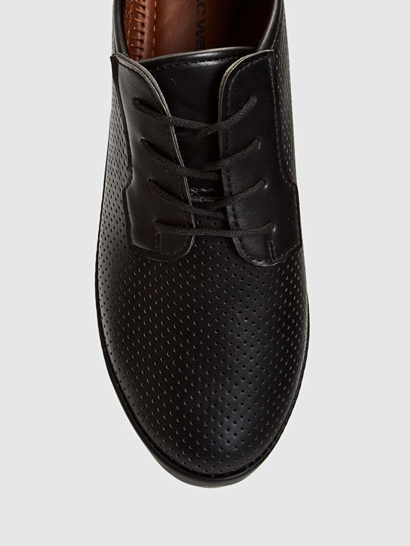 LC Waikiki Siyah Kadın Bağcıklı Klasik Ayakkabı