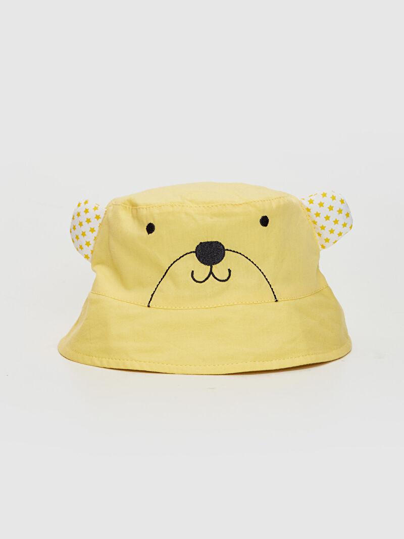 %100 Pamuk  %100 Pamuk  %100 Pamuk Astarlı Poplin Şapka Erkek Bebek Desenli Kova Şapka
