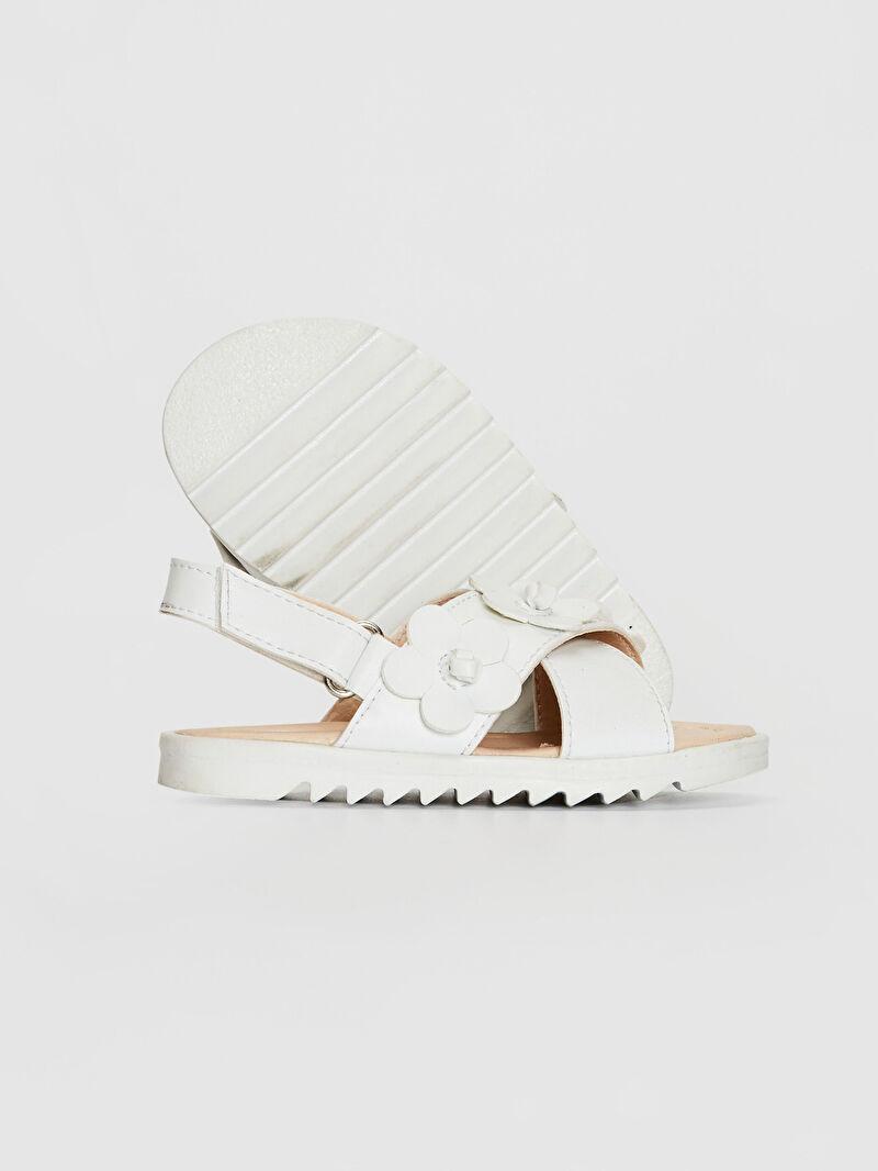 0SH892Z1 Kız Bebek Çiçek Detaylı Çapraz Bantlı Sandalet